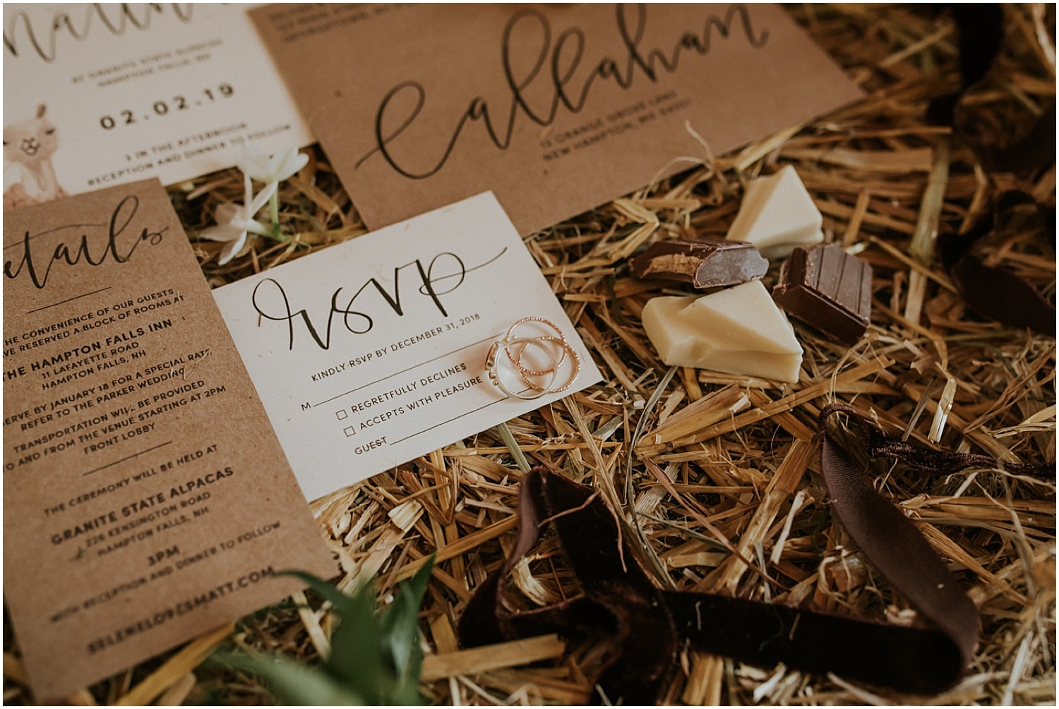 detail shot of the rings at the Farm Elopement Inspiration