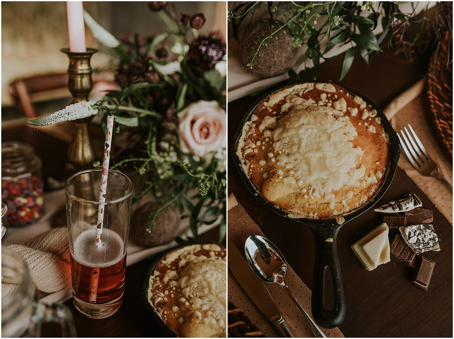 close up of food on the table at this Farm Elopement Inspiration