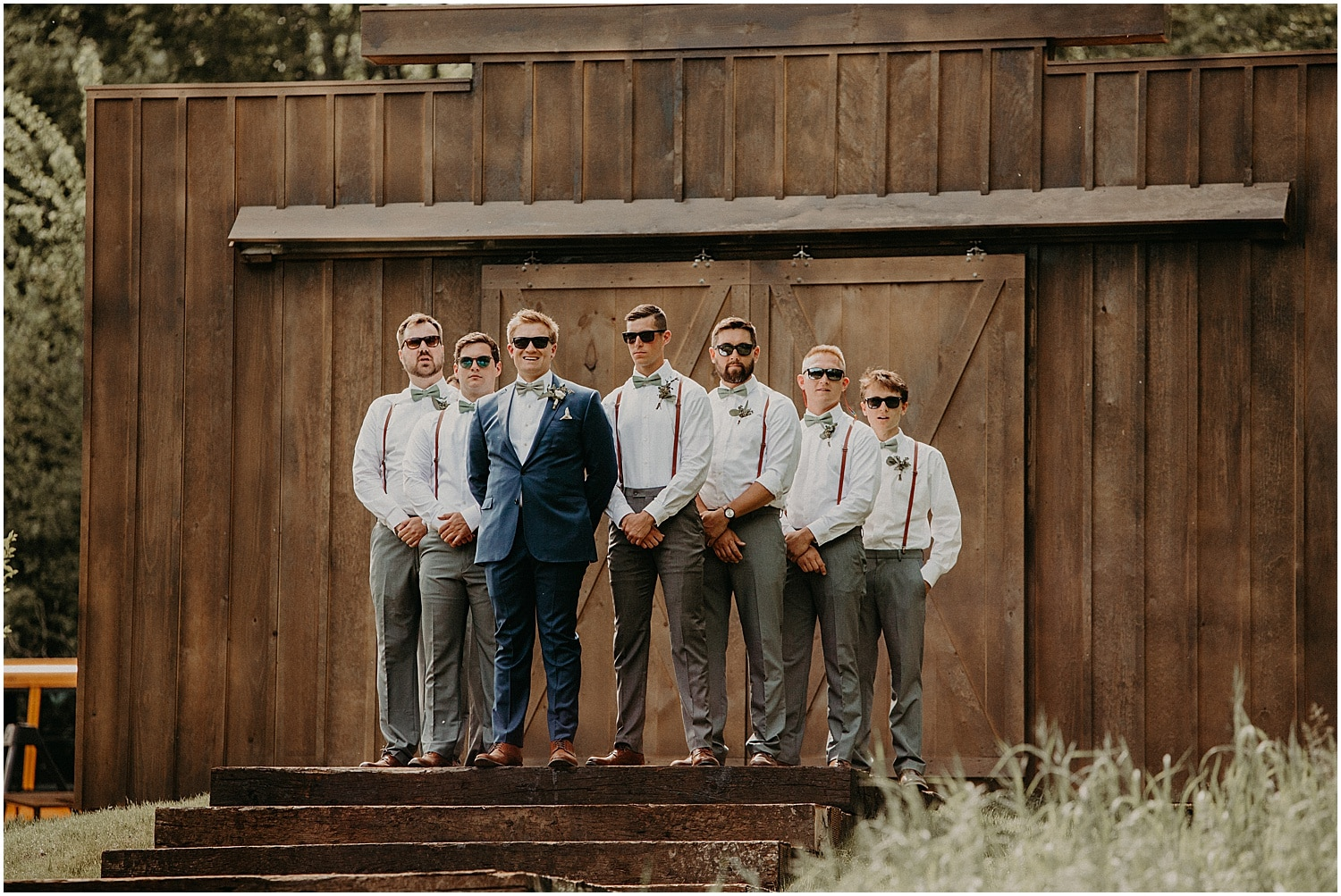 groom with his groomsmen at a Barn at Silver Oaks Wedding