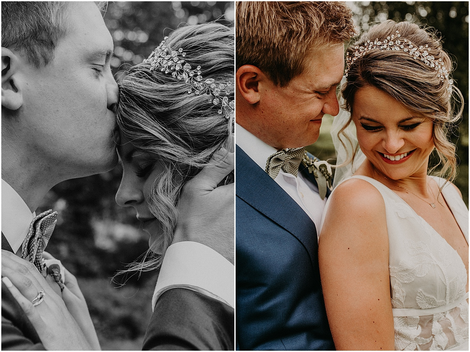 intimate moments between bride and groom at their Barn at Silver Oaks Wedding
