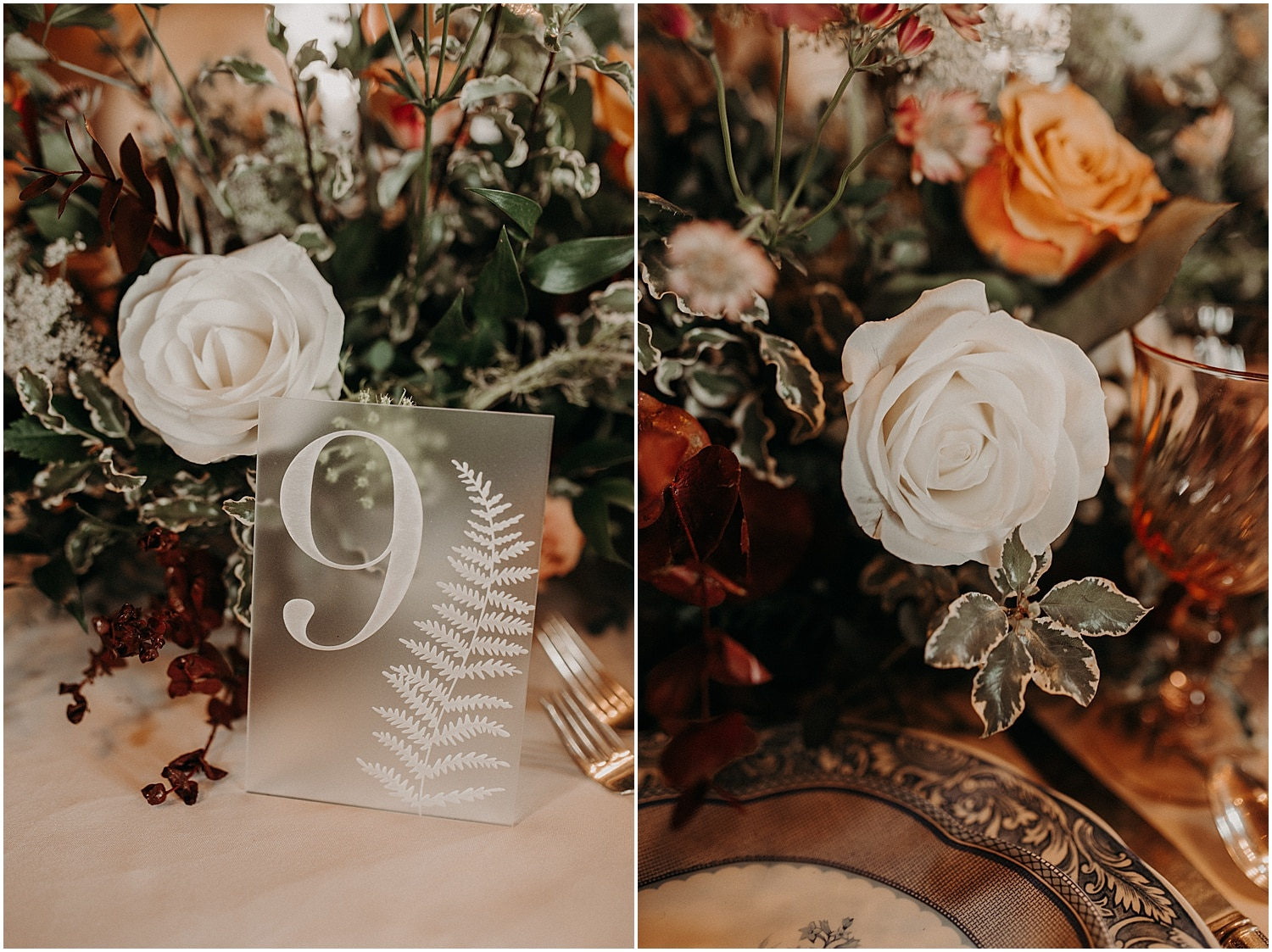 frosted glass table numbers inspiration