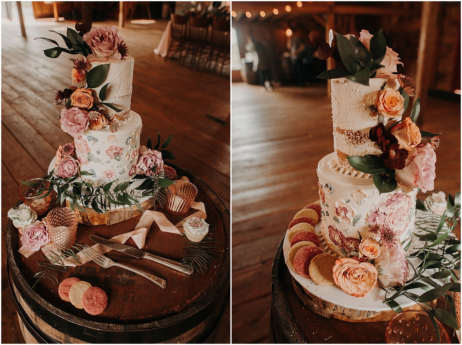 a flower dressed cake at the Wildflower Workshop 2019