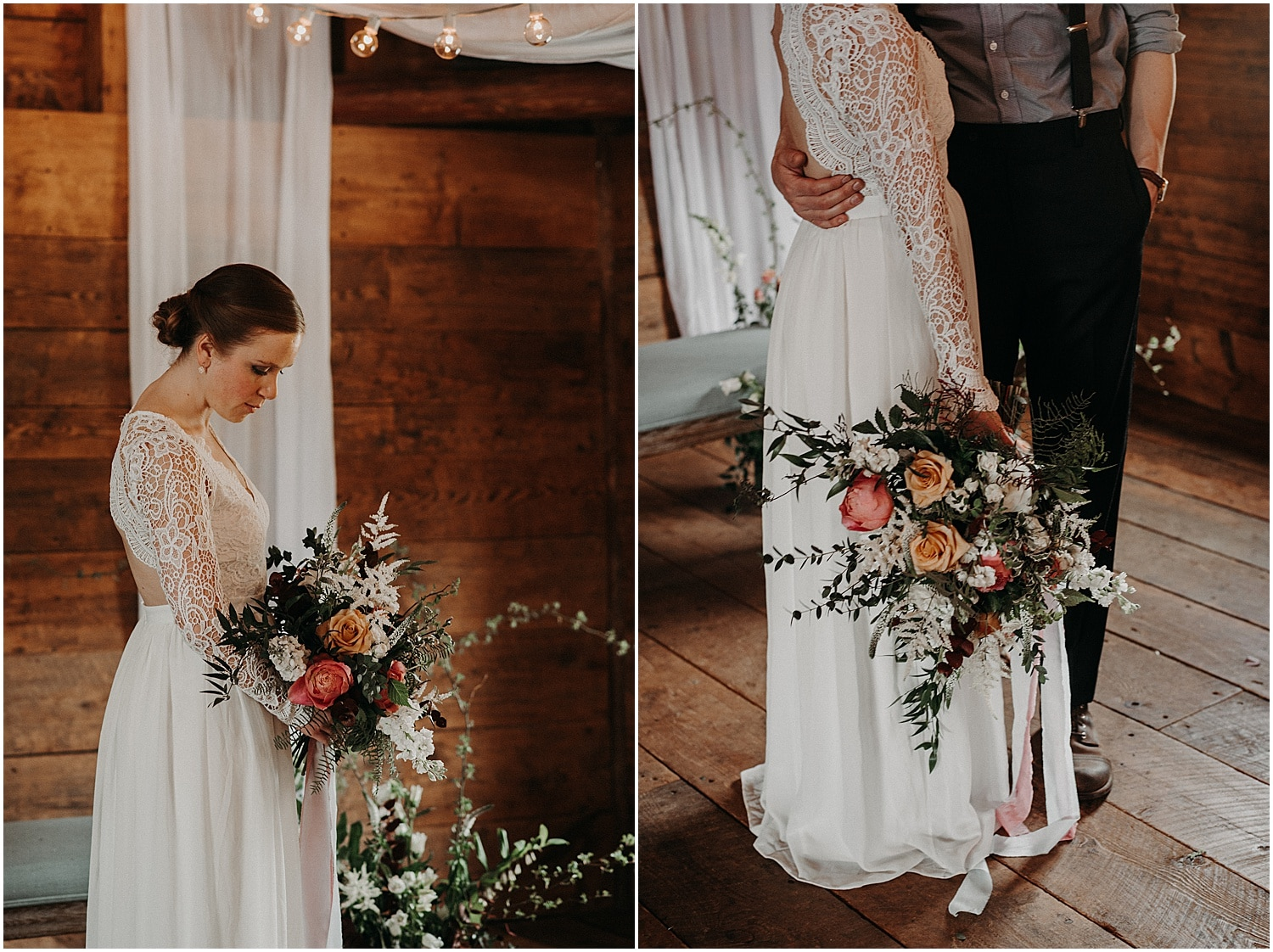 bride and her bouquet during the Wildflower Workshop 2019