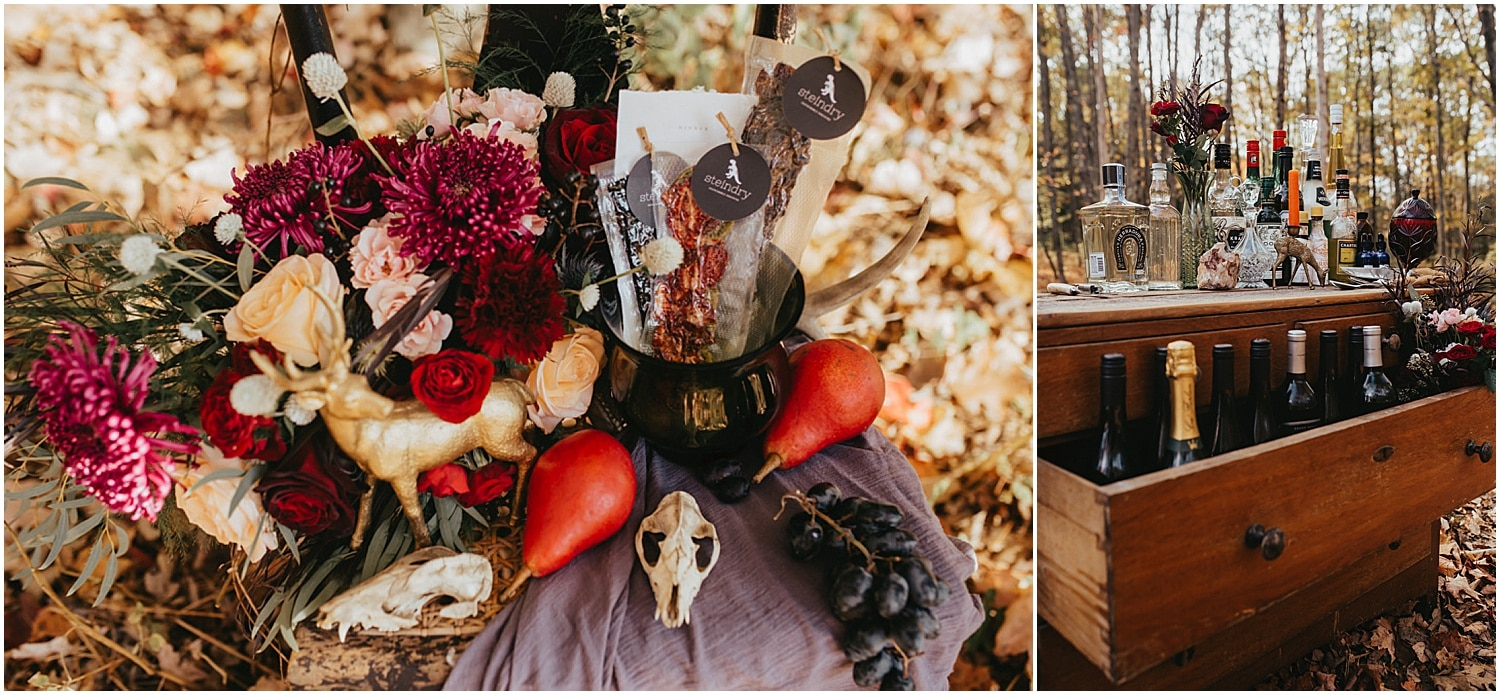beautiful gothic tablescapes of a halloween wedding