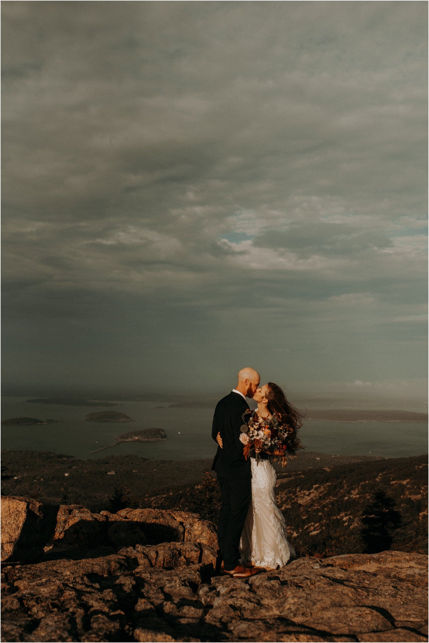 wedding on cadillac mountain