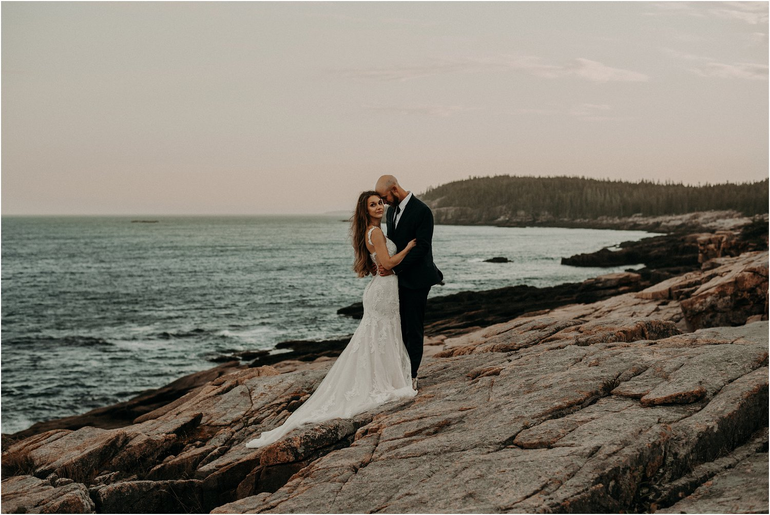 acadia national park wedding photo