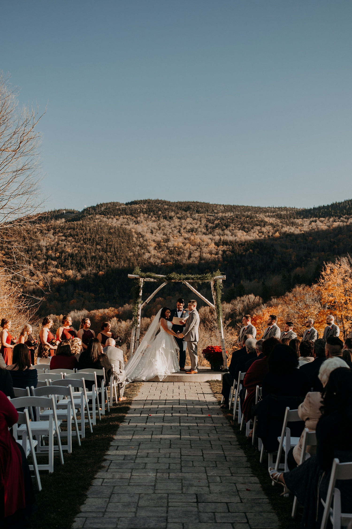 sunday river wedding photography