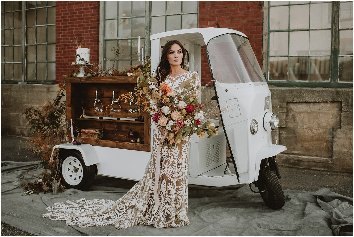 Maine Autumn Bridal Inspiration